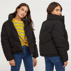 H&M Tiffany Young Black Padded/Puffer Jacket